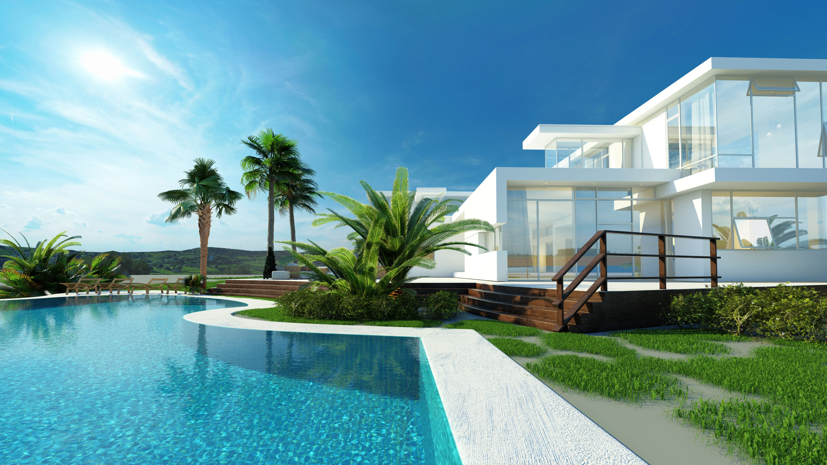 Swimming pools add value to south florida homes when well for Florida house plans with pool